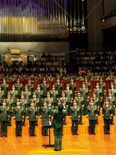"""""""青春的旋律""""李西林与中国武警男声合唱团交响合唱音乐会的图片"""